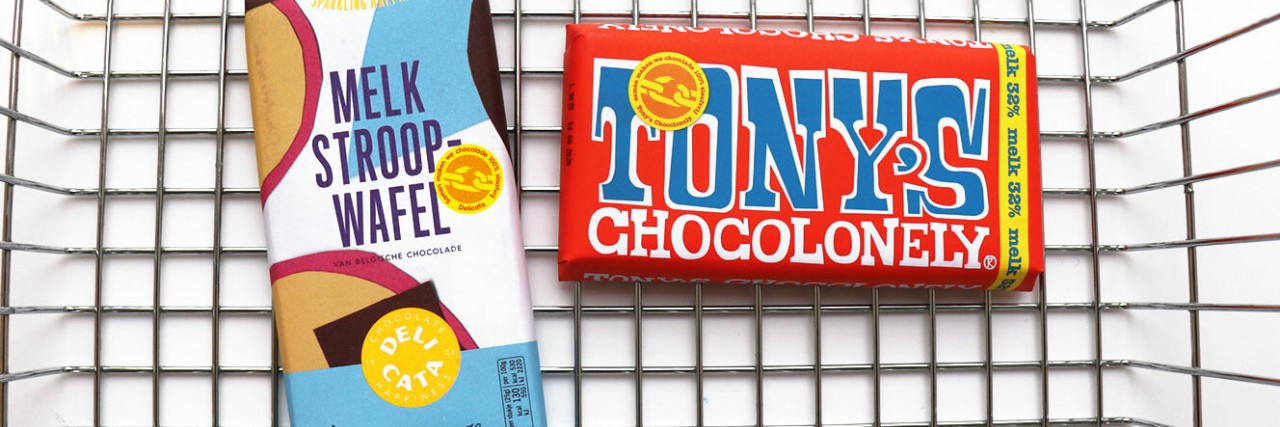 Delicata bars with Tony's Open Chain chocolate now available at Albert Heijn